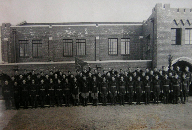artillery-battery-cadets-at-attention-circa-1938